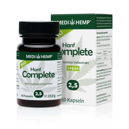MEDIHEMP Hanf Complete kapszula 2,5% 60 db