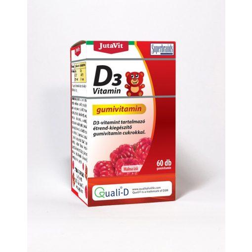JutaVit D3-vitamin Gumivitamin málna ízű 60 db